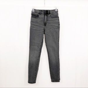 Everlane High Rise Ankle Jeans, Size 26, Charcoal
